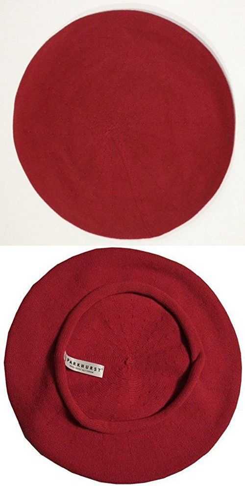 386203f1f176f Classic French Beret (Adult)- 100% Cotton - Red - 10