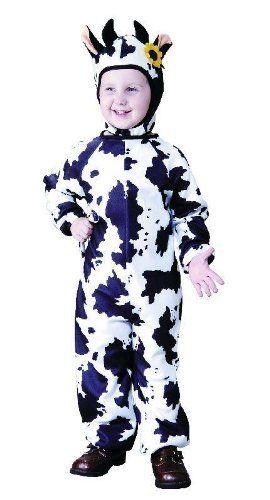 Foxxeo 10075 | Kostüm Kuh Kuhkostüm Tierkostüm für Kinder Kinderkostüm Gr. 86 - 158, Größe:110/116