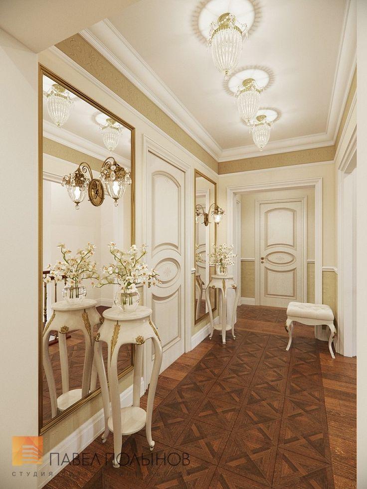 Фото: Дизайн коридора - Трехкомнатная квартира в классическом стиле, ЖК «Жемчужный фрегат», 110 кв.м.