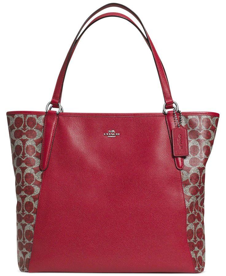 coach bailey tote in saffiano leather coach handbags