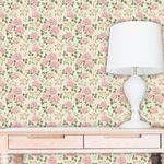 Foto 1 - Papel De Parede Autocolante Floral Rosas 102085426