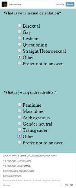 This college admissions form that got it right: | 23 Times Tumblr Cleverly Explained What Being Genderqueer Means