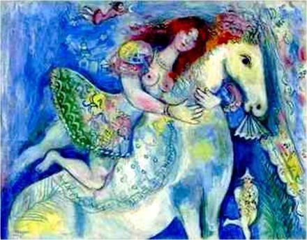 L'écuyère, ou Danseuse au cirque (1929)  Huile sur toile - Chagall