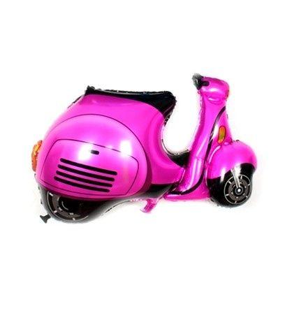 Iemand net 16 geworden? Verras hem of haar met deze kekke folie ballon scooter. Verkrijgbaar in de kleuren roze en blauw. Voor slechts 4,99 euro.