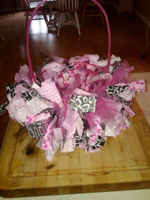 146 best teenager basket images on pinterest gift baskets i made this basket today for my teenage niece hayley its easy just rip up cute fabric and tie it all around the basket a great way to use up leftover negle Choice Image