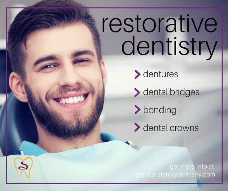 Restorative dentistry is there for every type of dental defect you may be suffering from and at Glendora Family Dentistry we have a variety of methods to restore teeth to their proper shape and position.