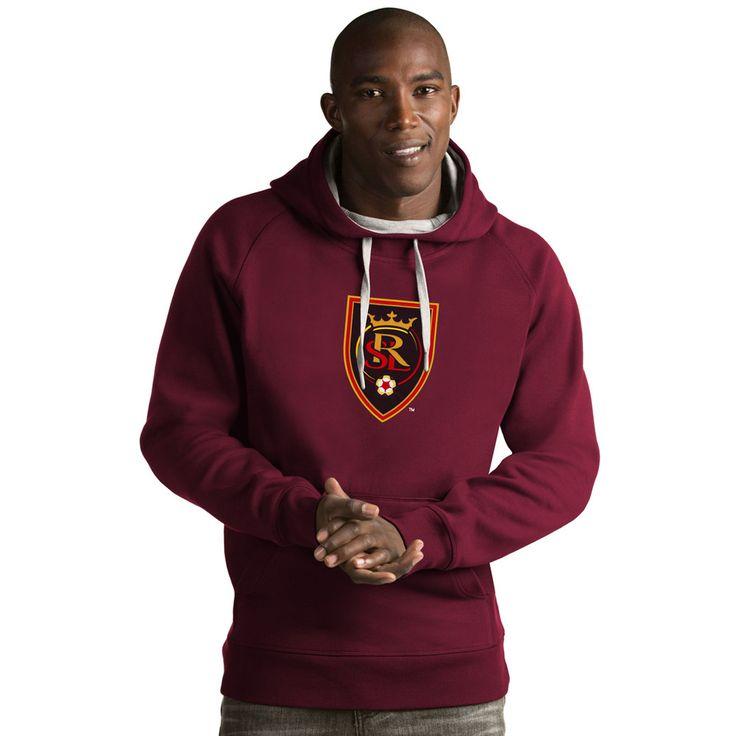 Men's Antigua Real Salt Lake Victory Logo Hoodie, Size: Medium, Dark Red