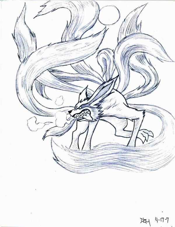Nine Tail Demon Fox By Novedlove On Deviantart In 2020 Naruto Drawings Itachi Uchiha Art Naruto Tattoo