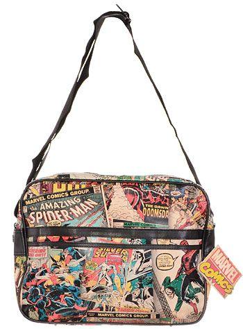 Retro Marvel Comics Messenger Bag at ShopPlasticland.com