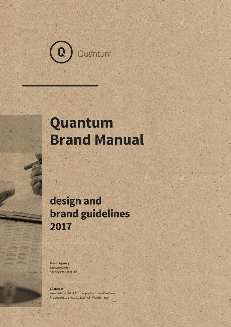 Brand Manual Template – with real text.
