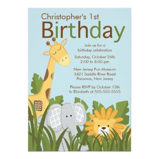 1000 Images About Funny Birthday Party Invitations On: 1000+ Images About Jungle Birthday Party Invitations On