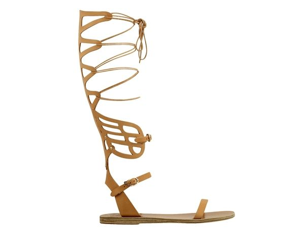 ANCIENT GREEK SANDALS - High lace sandal. Made in Greece.