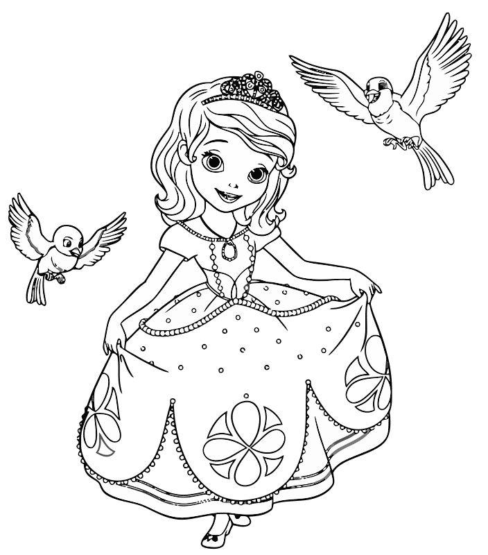 Раскраски для девочек распечатать софия прекрасная ...