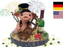 Glücksschwein – Neujahr Häkelanleitung Amigurumi PDF Deutsch – English