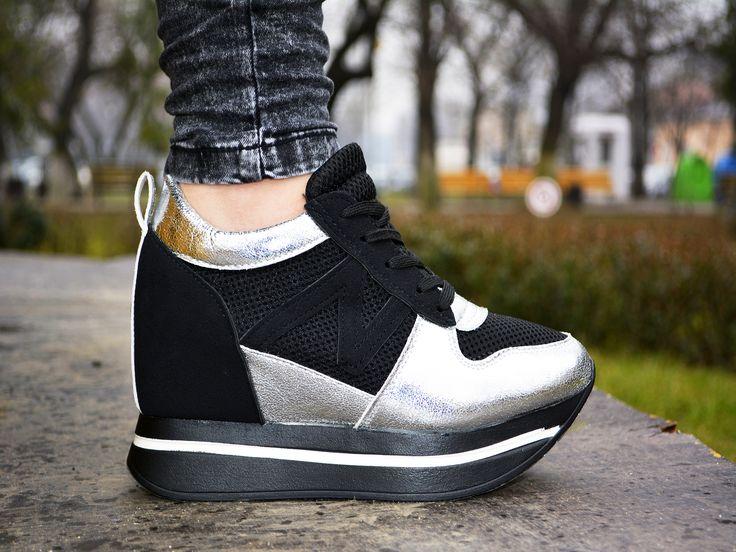 Adidasi Helen Negru http://www.standard-shoes.ro/produse-noi.html #sneakers #sport #shoes #woman #fashion #girl
