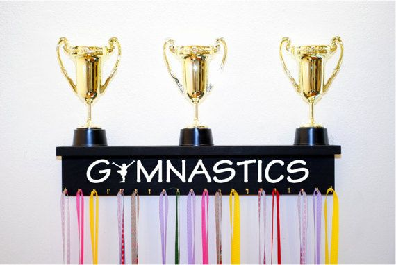 Gymnastics Trophy Shelf Available in Multiple Colors