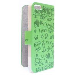 iPhone 5 vihreä kuviollinen kansikotelo.