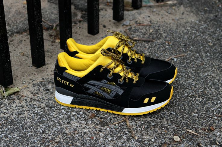 Asics Gel Lyte Iii With Black Yellow 2 Tones Rope Lace Get Your Own