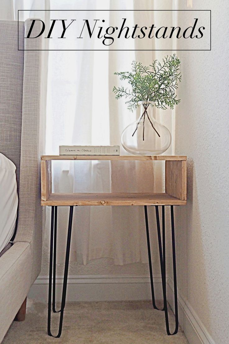 Diy Nightstand Project Megan Bell In 2020 Diy Nightstand Diy Furniture Easy Diy Furniture Decor