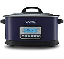 Gourmia GMC650 11 in 1 Sous Vide & Multi Cooker - Purple Stainless Steel with LCD Display Multiple Cooking Options, Bonus Accessories & Free Recipe Book