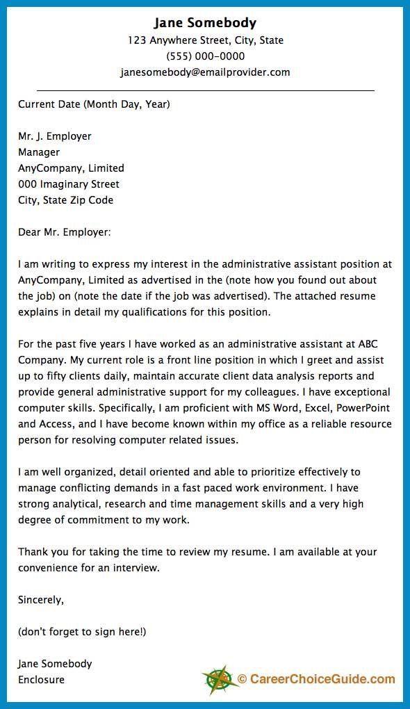 Cover Letter Job cover letter Job cover letter, Job application