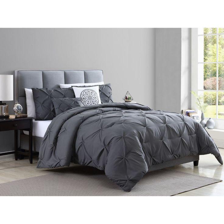 Blanca 5 Piece Comforter Set Queen Grey At Home Queen Comforter Sets King Comforter Sets Black And Grey Bedroom