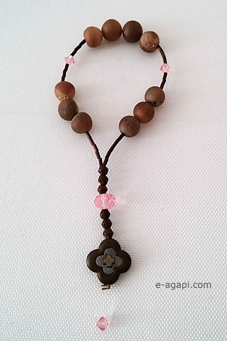 Agate rosary Mini rosary Girl rosary goddaughter gifts Unique rosary One decade rosary gift Catholic baptism gifts ideas Modern rosaries by eAGAPIcom on Etsy