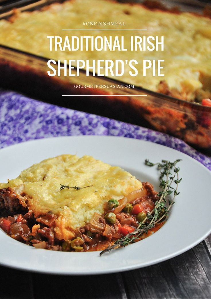 A delicious and healthy Traditional Irish Shepherd's Pie recipe that will become a staple in your house if you give it a try! #onedishmeal #shepherdspie