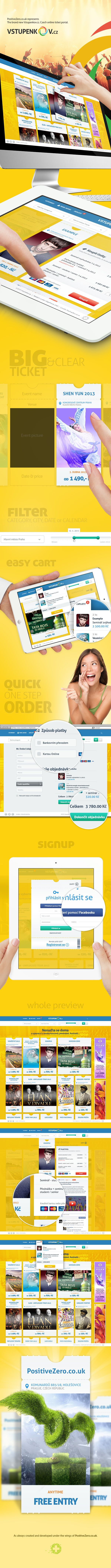Vstupenkov.cz - Czech online ticket portal. by PositiveZero.co.uk , via Behance