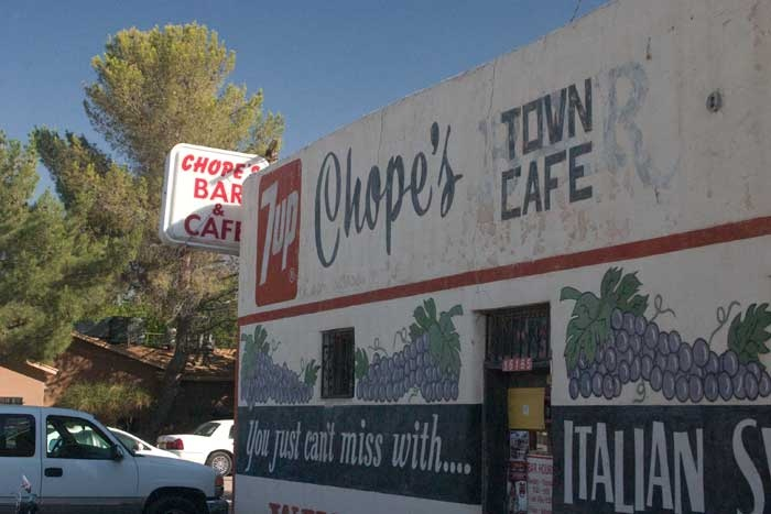 Chope's Bar, La Mesa NM, established 1934.