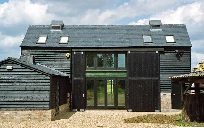 Super modern barn house.
