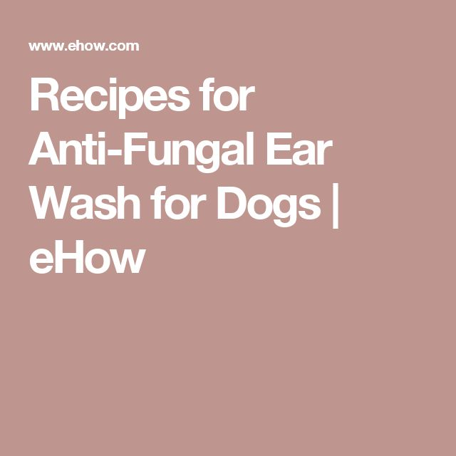 Recipes for Anti-Fungal Ear Wash for Dogs | eHow