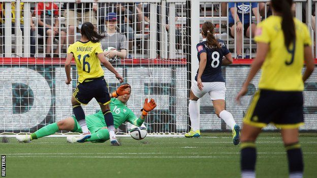 Colombia vs France 6-14-15 -- Andrade scores stunning goal