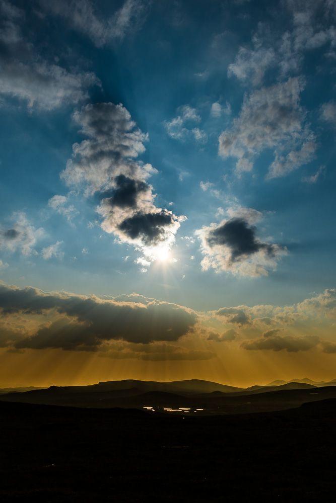 Sunset over Rondane  #Nature #Landscape #Bue #Sun #Cloud #Mountain #sunset #Norway #Ringebu #Rondane