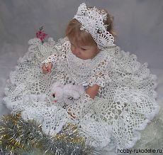 Новогоднее платье для малышки. Подробный МК.