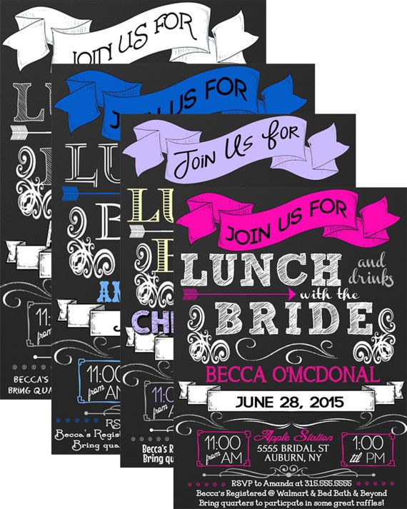Lunch with the Bride invitations Brunch with by ...