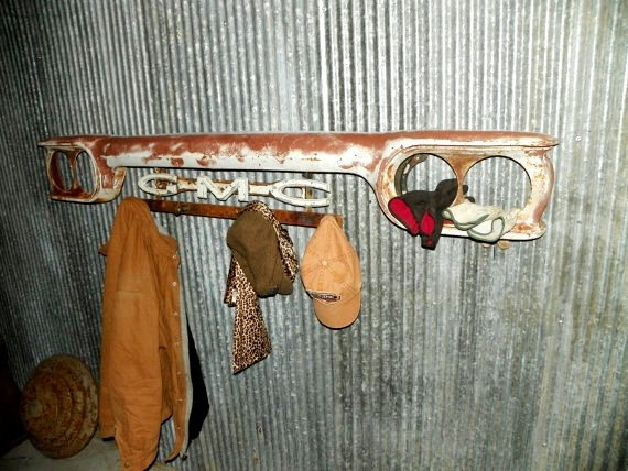 Industrial chic vintage 1960's Truck Grille Wall art by hippiehog, $284.00