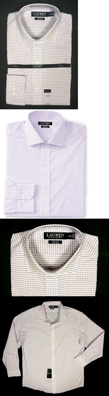 Dress Shirts 57991: New Lauren Ralph Lauren Pink Check Slim Fit Spread Collar Non Iron Dress Shirt -> BUY IT NOW ONLY: $39.99 on eBay!