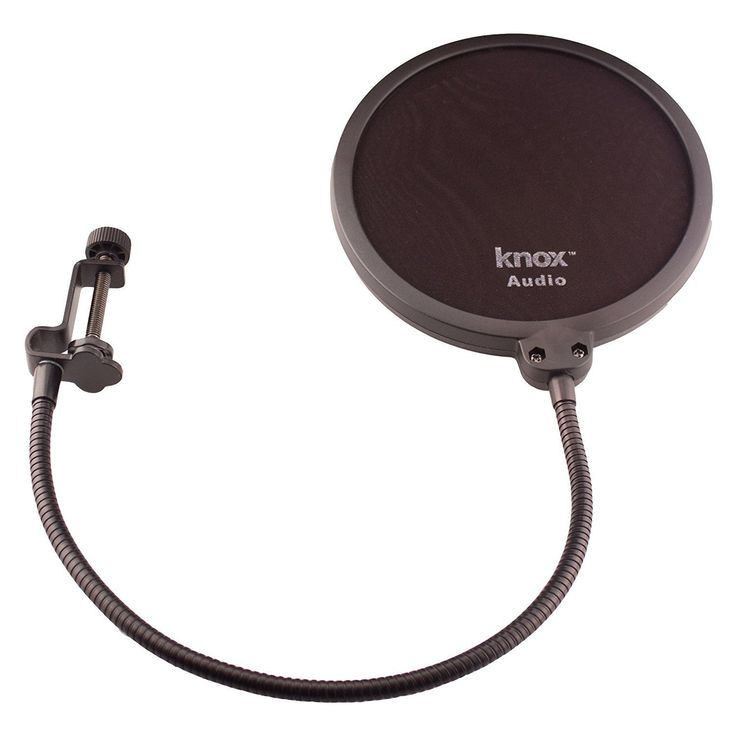 Knox KN-PF2 Pop Filter for Yeti Microphones #ABLMSNWBLICEBKMDBAK1