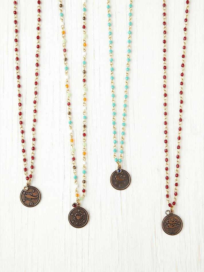 Zodiac & Birth Stone Rosary Necklaces