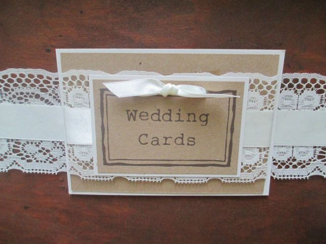 Wooden Suitcase Vintage Wedding Card Holder Post Box Lace & Pearl