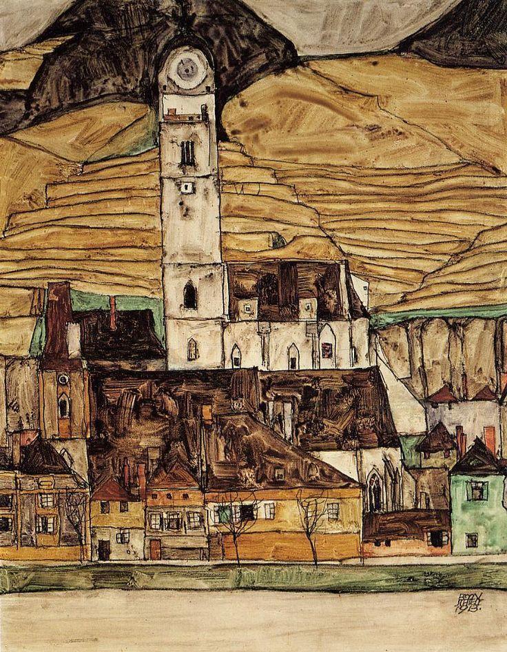 Stein on the Danube - Egon Schiele