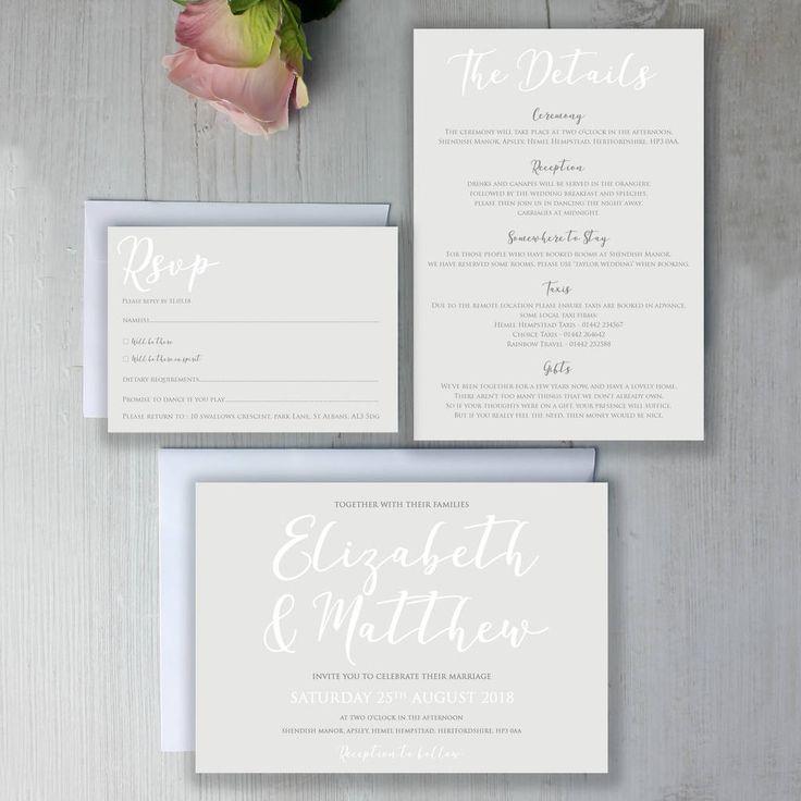 Modern Traditional Calligraphy Wedding Invitation 14 best