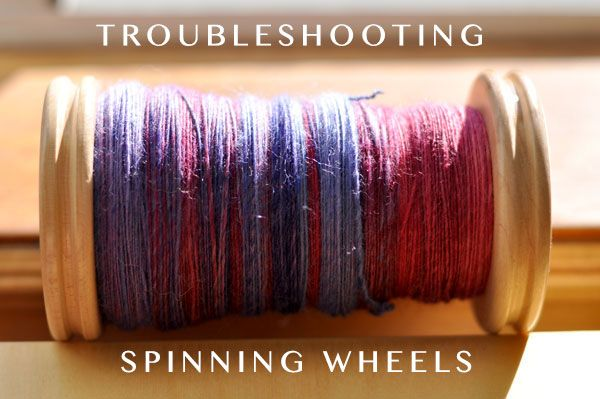 When you're first learning how to spin, you may get stumped by some common spinning wheel problems. Don't despair! We're here to help ease the frustration you may be facing with some spinning wheel troubleshooting. Trust us — you can figure it out!