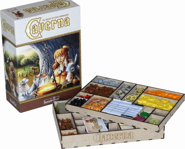 Boardgame / Juegos de Mesa Laser cut storage solution for CAVERNA  info: withoutmess.wom@gmail.com
