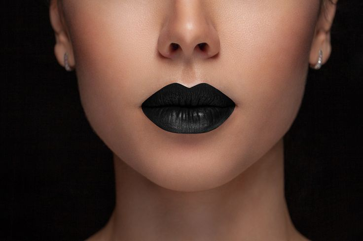 This intense black lipstick is is a gorgeous color that goes with every season…