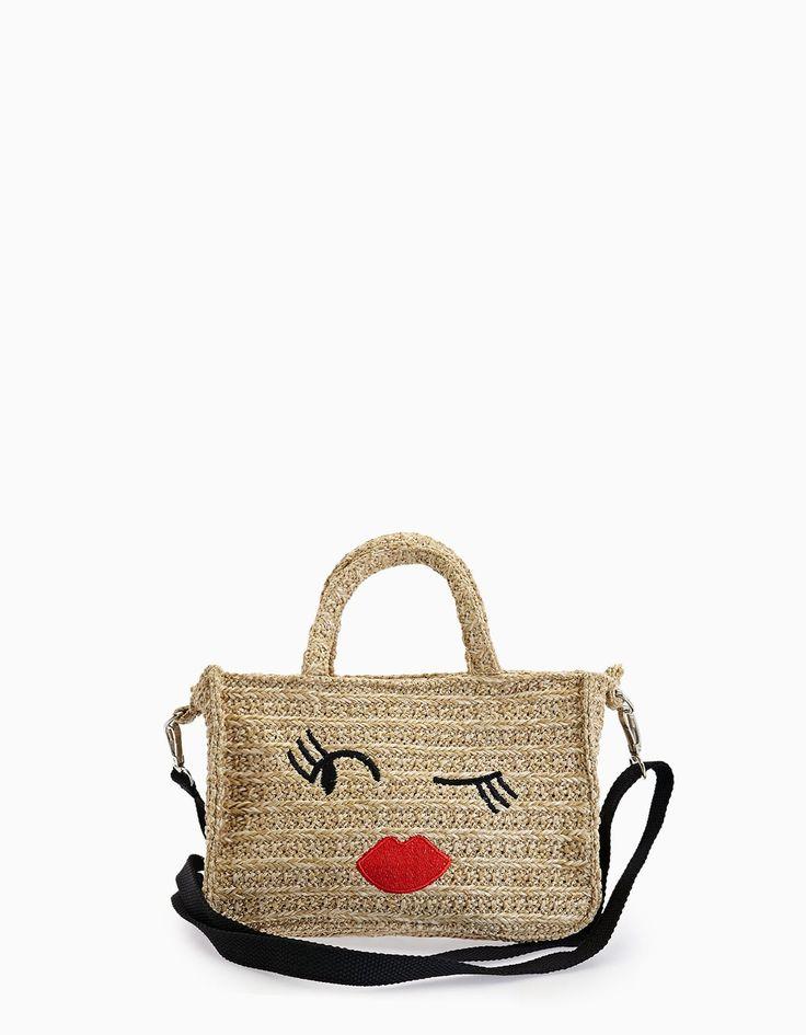 Raffia crossbody bag - Bags | Stradivarius Thailand