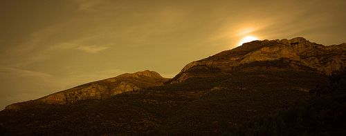 Moon rising, Jalon Valley, Spain
