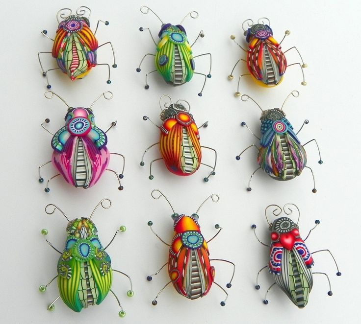 Polymer clay bugs. Does anyone know who made these?
