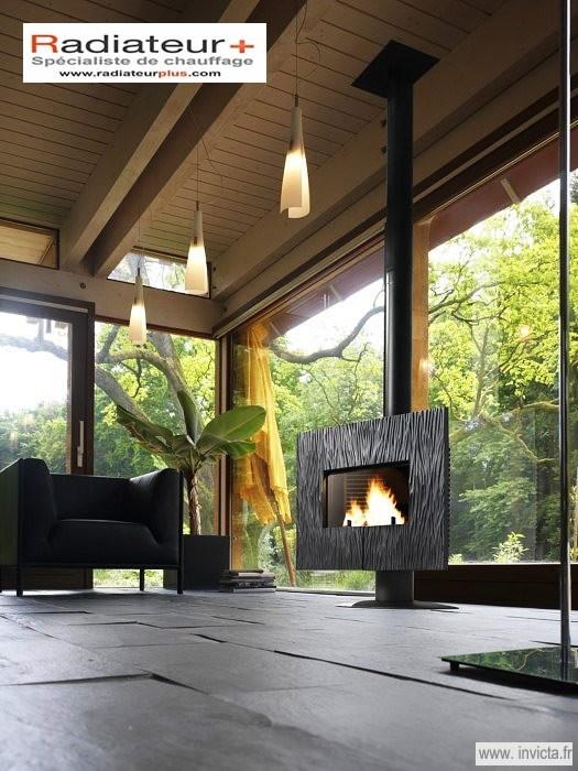 Poêle cheminée Gaya Ardoise - INVICTA